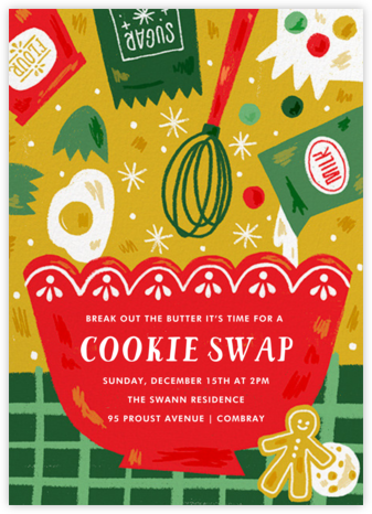 Ready Set Bake - Paperless Post - Holiday party invitations