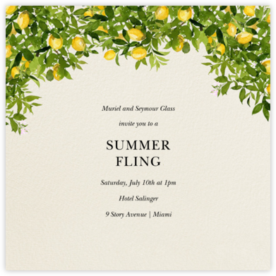 Eureka Bower - Felix Doolittle - Summer Party Invitations