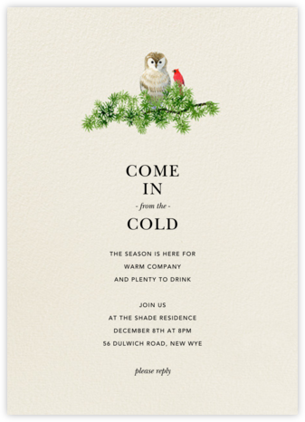 Barn Owl - Felix Doolittle - Winter Party Invitations