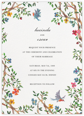 Birds on Bowers - Happy Menocal - Wedding invitations