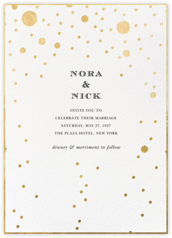 Champagne Bubbles (Single-Sided) - kate spade new york - Online Wedding Invitations