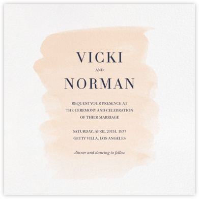 Basic Brushstroke - Bellini - Sugar Paper - Wedding Invitations