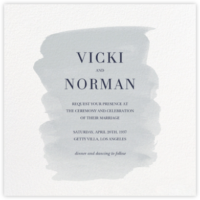 Basic Brushstroke - Pacific - Sugar Paper - Wedding Invitations