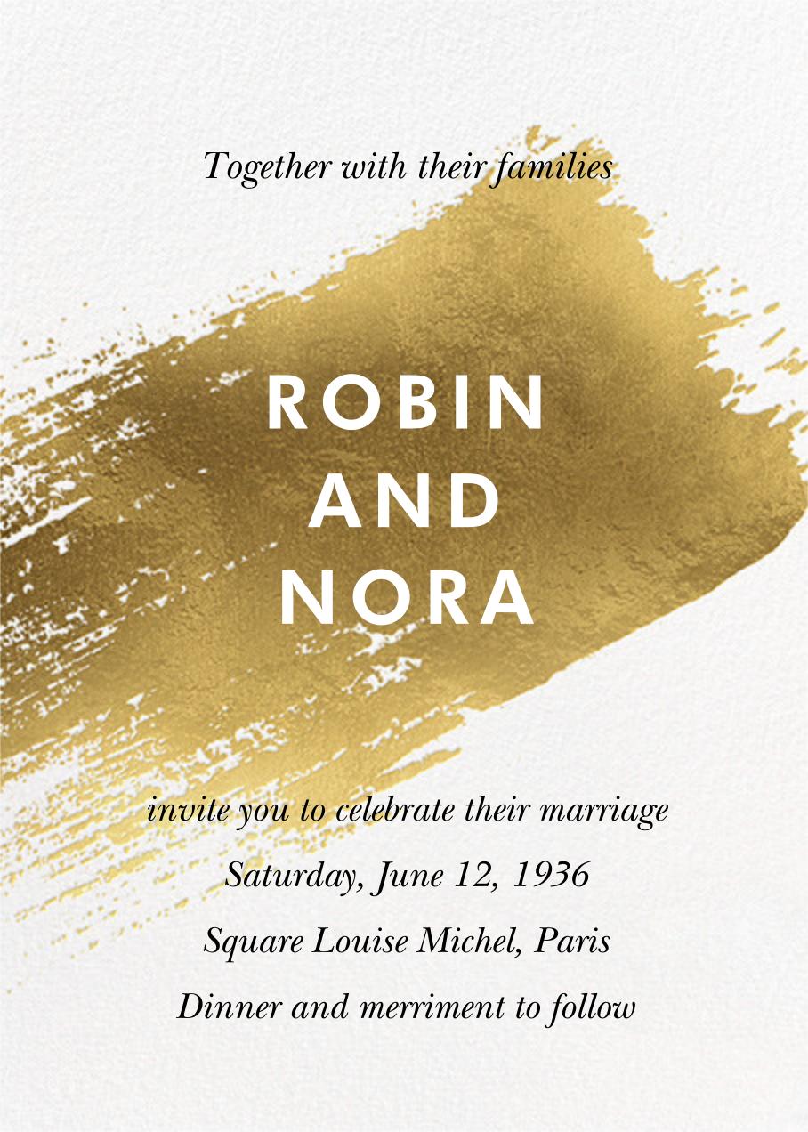 Impasto (Invitation) - Paperless Post - Wedding invitations