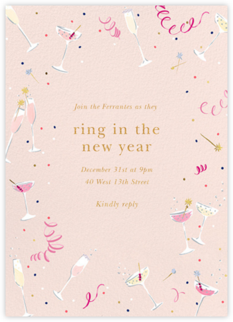 Fling Drinks - kate spade new york - New Year's Eve Invitations