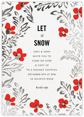In the Poppies - kate spade new york - Winter Party Invitations