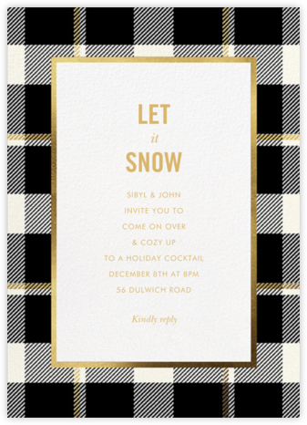 Tartan Suite - kate spade new york - Holiday party invitations