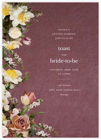 Messidor - Putnam & Putnam - Bridal shower invitations