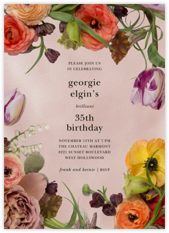 Fructidor - Putnam & Putnam - Adult Birthday Invitations