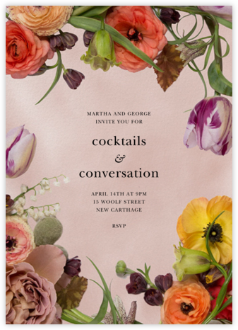 Fructidor - Putnam & Putnam - Cocktail party invitations