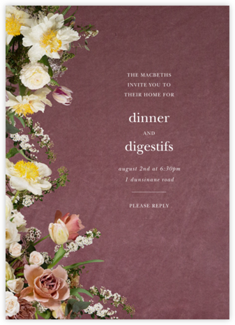 Messidor - Putnam & Putnam - Dinner Party Invitations