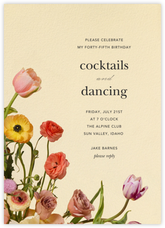 Prairial - Putnam & Putnam - Adult Birthday Invitations