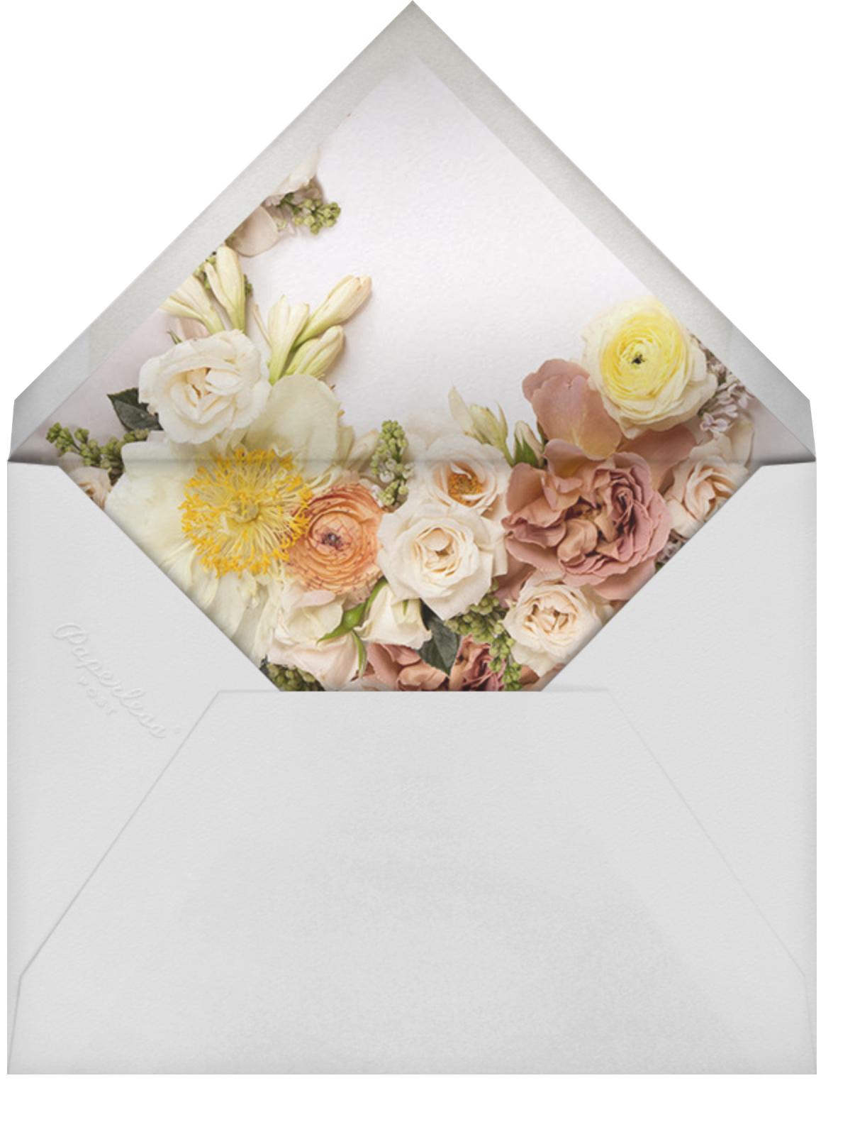 Pluviôse - Putnam & Putnam - Wedding brunch - envelope back