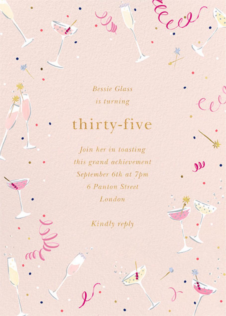 Fling Drinks - kate spade new york - Adult birthday invitations