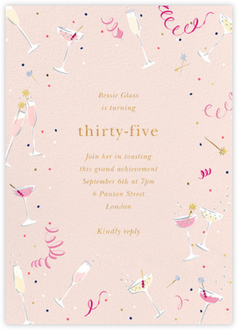 Fling Drinks - kate spade new york - Adult Birthday Invitations