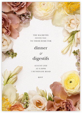 Pluviôse - Putnam & Putnam - Dinner party invitations