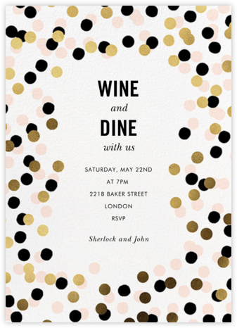 Confetti Shimmer - kate spade new york - Winter entertaining invitations