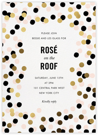 Confetti Shimmer - kate spade new york - Cocktail party invitations