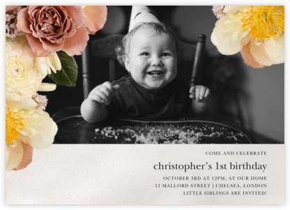 Pluviôse Photo - Putnam & Putnam - First Birthday Invitations