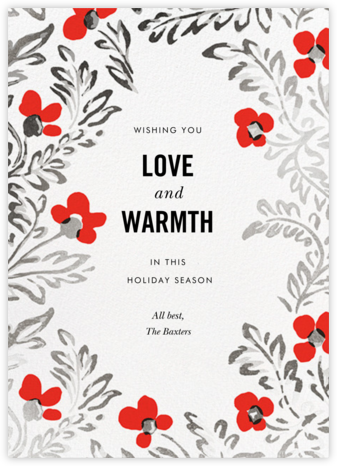 In the Poppies - kate spade new york - Holiday Cards