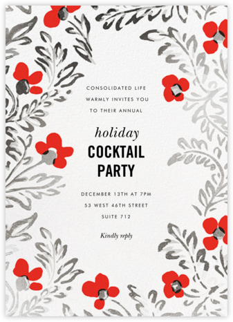 In the Poppies - kate spade new york - Company holiday party