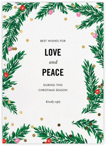 Metallic and Mistletoe - kate spade new york - Christmas Cards