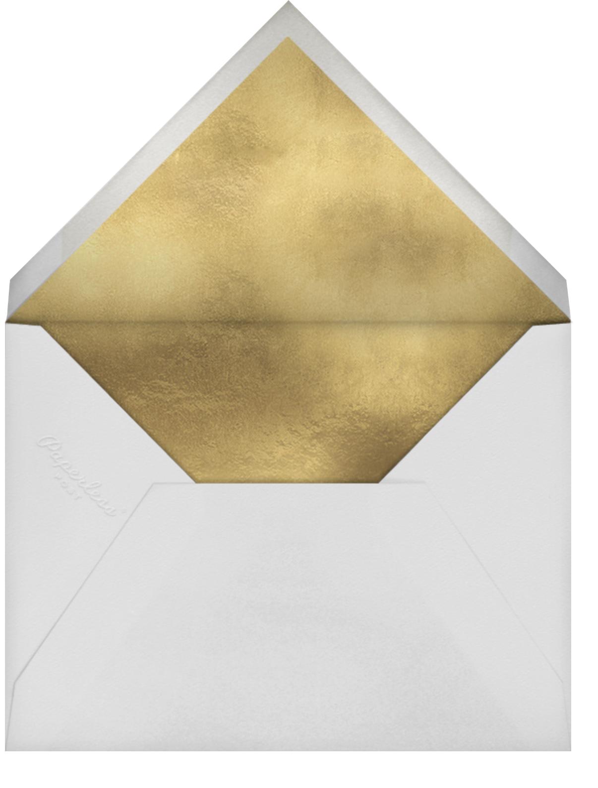 Metallic and Mistletoe - kate spade new york - Company holiday party - envelope back
