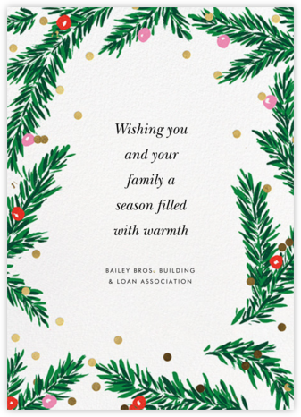 Metallic and Mistletoe - kate spade new york - Company holiday cards