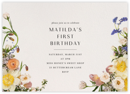 Ventôse - Putnam & Putnam - First Birthday Invitations