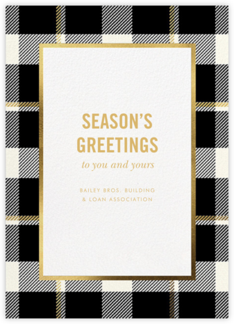 Tartan Suite - kate spade new york - Company holiday cards