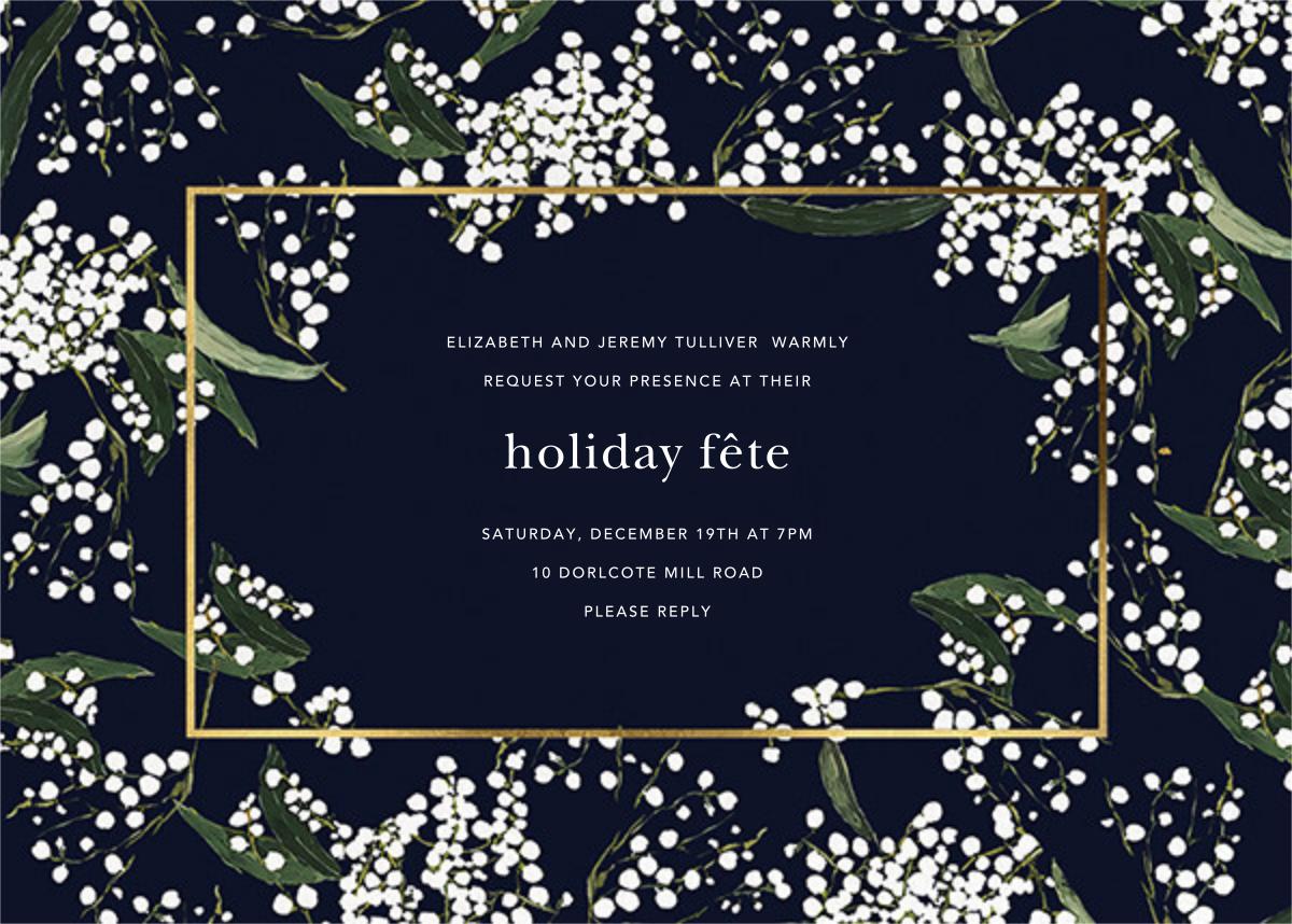 Baby's Breath - Oscar de la Renta - Holiday party invitations