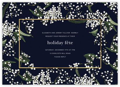 Baby's Breath - Oscar de la Renta - Holiday party invitations