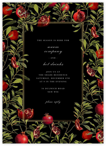 Grenadine - Black - Oscar de la Renta - Winter Party Invitations