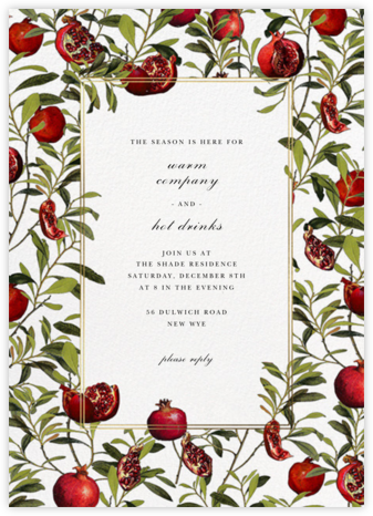 Grenadine - White - Oscar de la Renta - Winter entertaining invitations