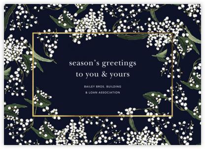 Baby's Breath - Oscar de la Renta - Business holiday cards