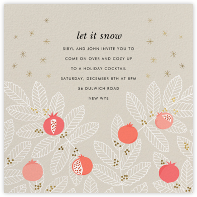 Pom Pom Club - Paperless Post - Holiday invitations