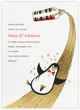 Season's Slip-and-Slide - Paperless Post - Holiday party invitations