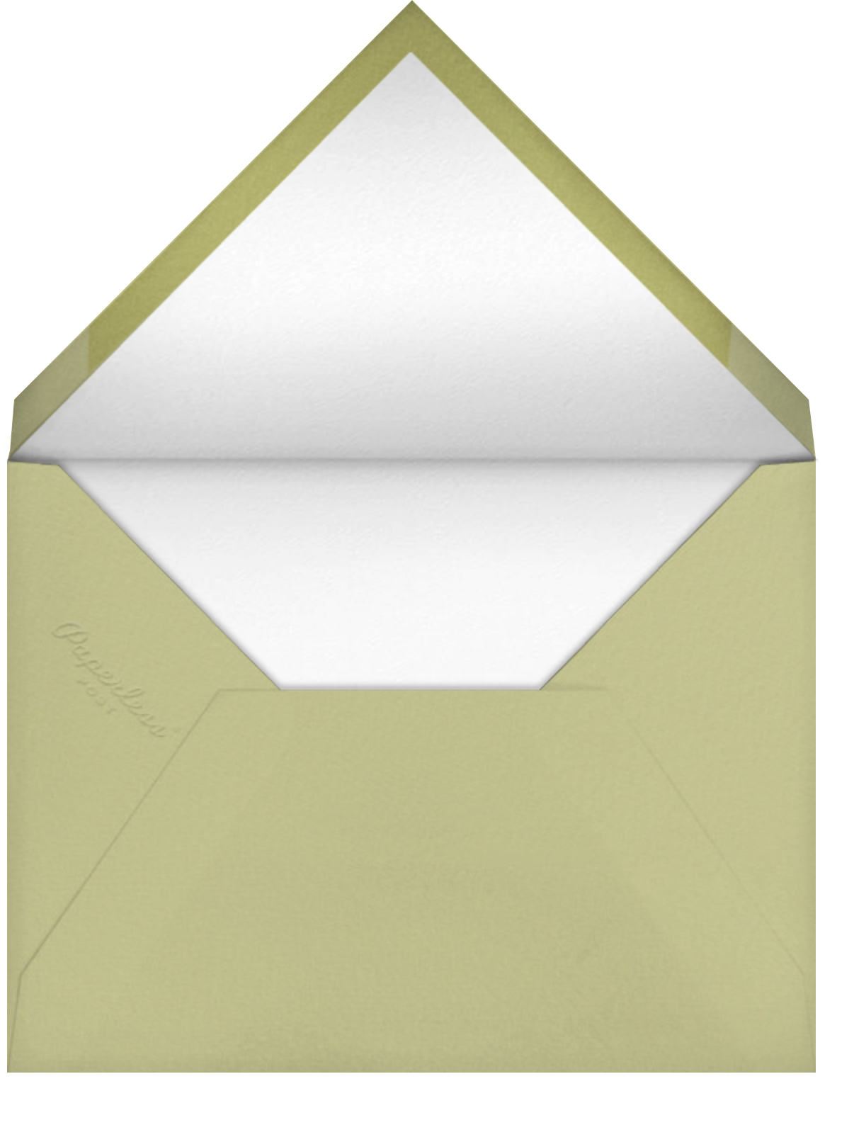 Snow on the Rooftops - Paperless Post - Winter parties - envelope back