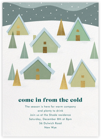 Snow on the Rooftops - Paperless Post - Winter entertaining invitations