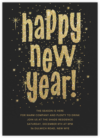 Glitter and Glee (New Years) - Paperless Post - New Year's Eve Invitations