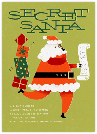 Santa's Got a Secret - Raw Umber - Paperless Post -