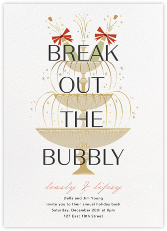 Champers Fountain - Paperless Post - Holiday invitations