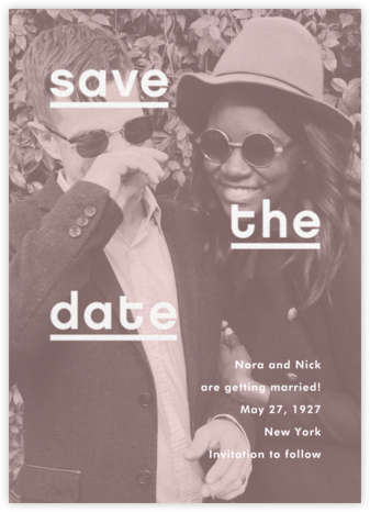 Mercedes - Tea Rose - Paperless Post - Save the dates