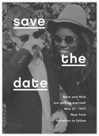 Mercedes - Charcoal - Paperless Post - Modern save the dates