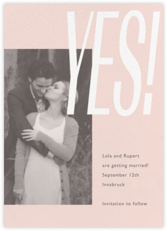 Lina - Meringue - Paperless Post - Photo save the dates