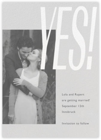 Lina - Winter Gray - Paperless Post - Modern save the dates