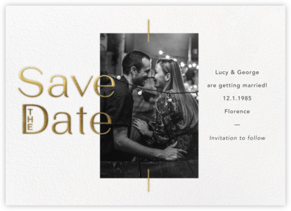Rashida - White - Paperless Post - Classic save the dates