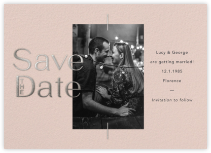 Rashida - Antique Pink - Paperless Post - Modern save the dates