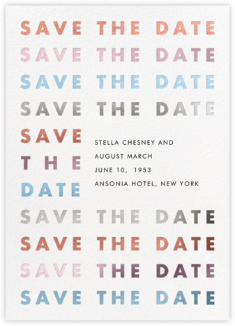 Stopover - Metallic - Paperless Post - Modern save the dates