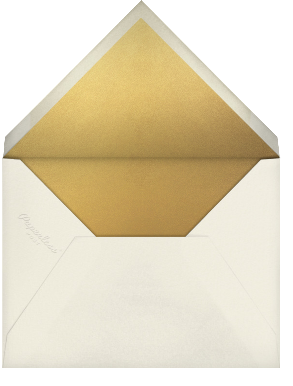 Lieder - Cream - Paperless Post - Save the date - envelope back